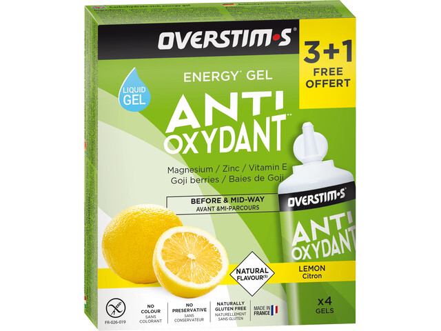 OVERSTIM.s Antioxydant Liquid Gel Box 3+1 Free 4x30g, Lemon